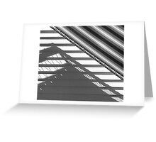 Shadow and awning, the Moorings Greeting Card