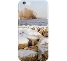 Snow Over the River iPhone Case/Skin