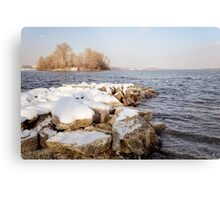 Snow Over the River Metal Print