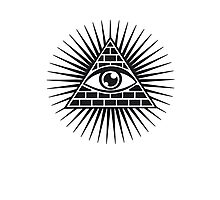 Eye Of Providence - All Seeing Eye Of God - Symbol Omniscience Photographic Print