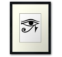 EYE of Horus / Ra - ancient Egyptian symbol of protection Framed Print