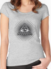 Eye Of Providence - All Seeing Eye Of God - Symbol Omniscience Women's Fitted Scoop T-Shirt