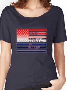 Red White and Blue Women's Relaxed Fit T-Shirt