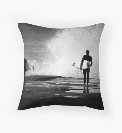 Angourie Surfers #1 June '09 Throw Pillow