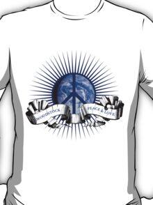 Woodstock Peace Sign &Earth T-Shirt