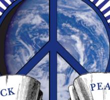 Woodstock Peace Sign &Earth Sticker