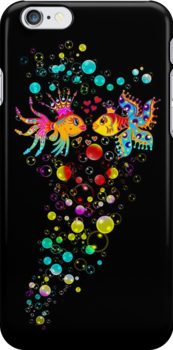 Love Fish, Bubbles, Hearts, Water, by nitty-gritty