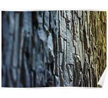 coloured vertical slate wall Poster
