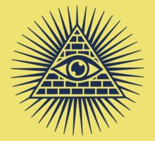 Eye Of Providence - All Seeing Eye Of God - Symbol Omniscience One Piece - Short Sleeve