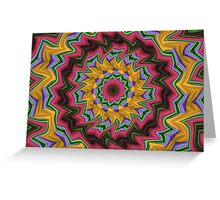 Krazy Kaleidoscope Greeting Card