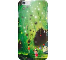 Totoro Christmas Card iPhone Case/Skin