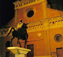 A Square in Pavia, Lombardia, Italy. Church of San Michele Maggiore. by Igor Pozdnyakov