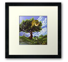 Totoro and Catbus Framed Print
