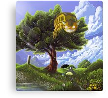 Totoro and Catbus Canvas Print