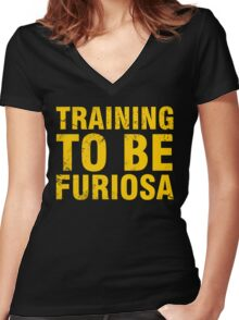 Training to be Furiosa - Mad Max Fury Road Women's Fitted V-Neck T-Shirt