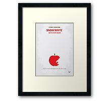No252 My SNOW WHITE minimal movie poster Framed Print