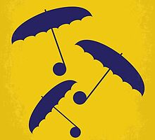 No254 My SINGIN IN THE RAIN minimal movie poster by JiLong