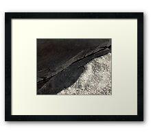 The Hidden Land - Diamond Beach Framed Print