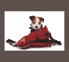Jack Russell Terrier puppy and a red bag One Piece - Short Sleeve