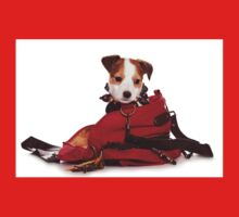 Jack Russell Terrier puppy and a red bag One Piece - Long Sleeve