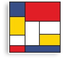 In the Style of Mondrian Canvas Print
