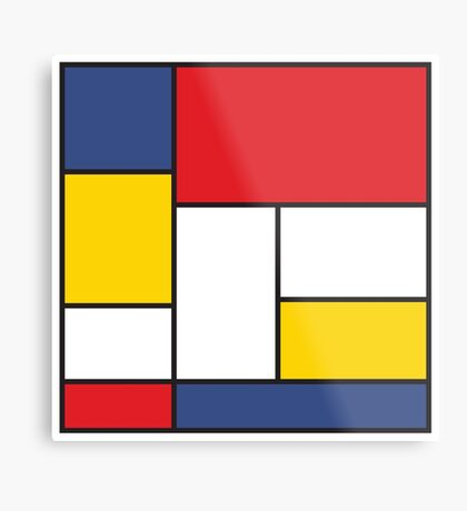 In the Style of Mondrian Metal Print