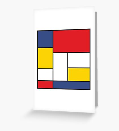 In the Style of Mondrian Greeting Card