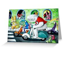 Scooter rally - Yeti and Co. Greeting Card