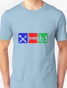 EAT SLEEP COMPUTER HACK Unisex T-Shirt