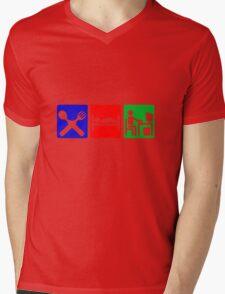 EAT SLEEP COMPUTER HACK Mens V-Neck T-Shirt