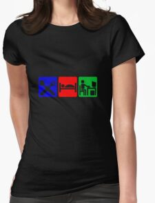 EAT SLEEP COMPUTER HACK Womens Fitted T-Shirt