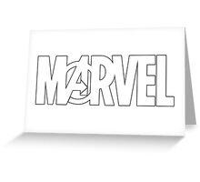 Marvel Avengers Logo Greeting Card