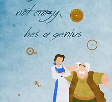 Beauty and the Beast inspired Father's Day design. by topshelf