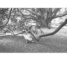 Startled BW Photographic Print