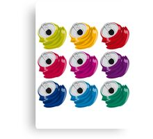 Multi colored crushed cans Canvas Print