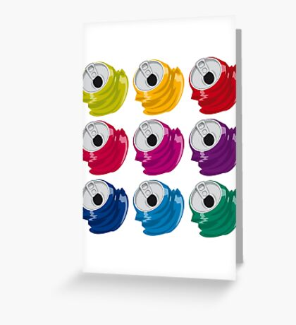 Multi colored crushed cans Greeting Card