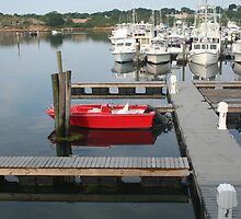 Red boat at Gloucester by Linda Jackson