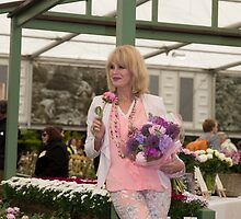 Joanna Lumley at the Chelsea flower show 2015 by Keith Larby