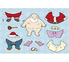 Santa Claus paper doll Photographic Print