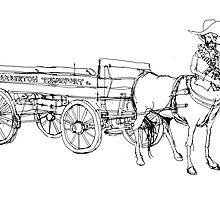Sagittarius cowboy by JasonBronkhorst