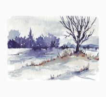 Winter at the pond Kids Clothes