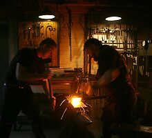 Pounding & Shaping The Blade by patjila