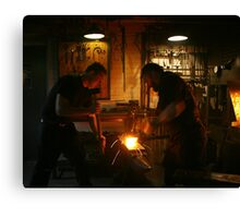Pounding & Shaping The Blade Canvas Print