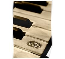 Grunge piano keys Poster