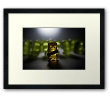 Gummy Bear Photography - Labels Are For Cans, Not For People (or gummy bears) Framed Print
