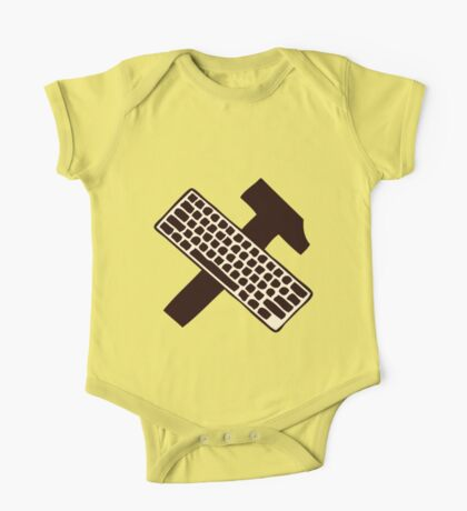 hammer and keyboard One Piece - Short Sleeve