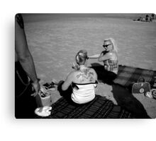 Terschelling Beach 50s Style Memories Canvas Print