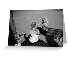 Terschelling Beach 50s Style Memories Greeting Card