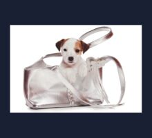 Jack Russell Terrier puppy and a bag Kids Tee