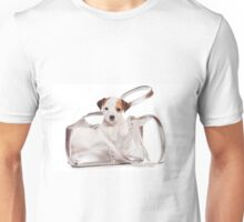 Jack Russell Terrier puppy and a bag Unisex T-Shirt